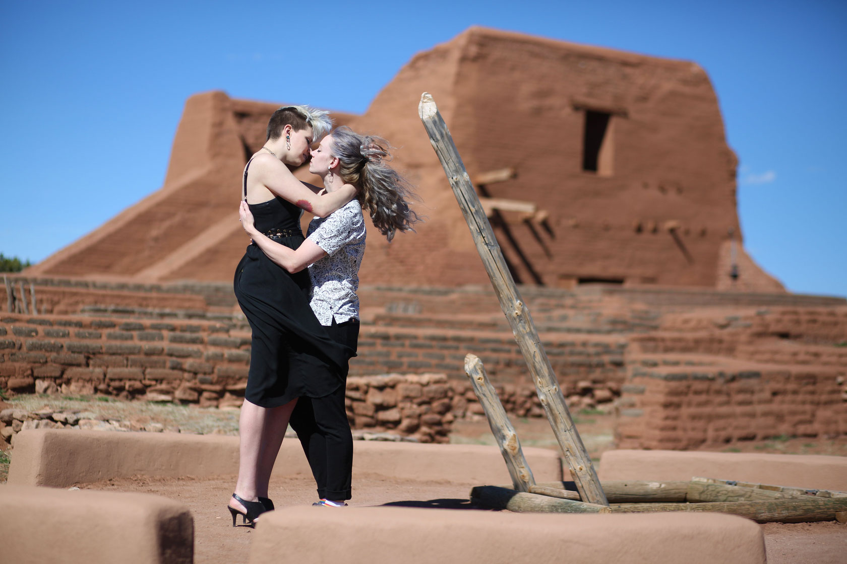 Pecos National Park Engagement Photos, Pecos Ruins