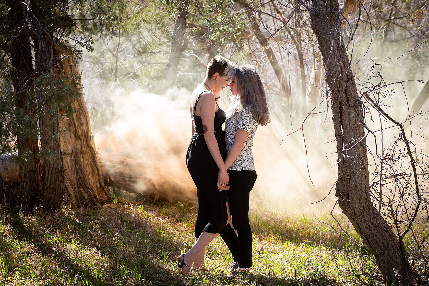 Smoke Bomb Engagement Photos