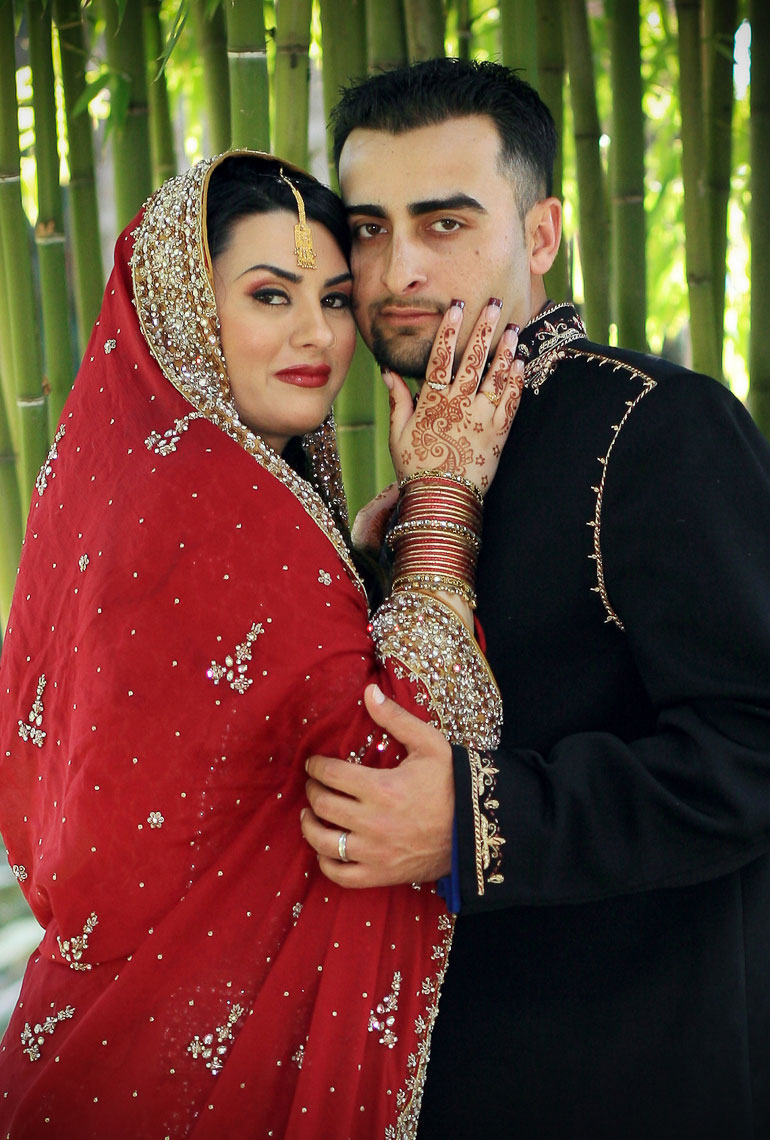Pakistani wedding couple