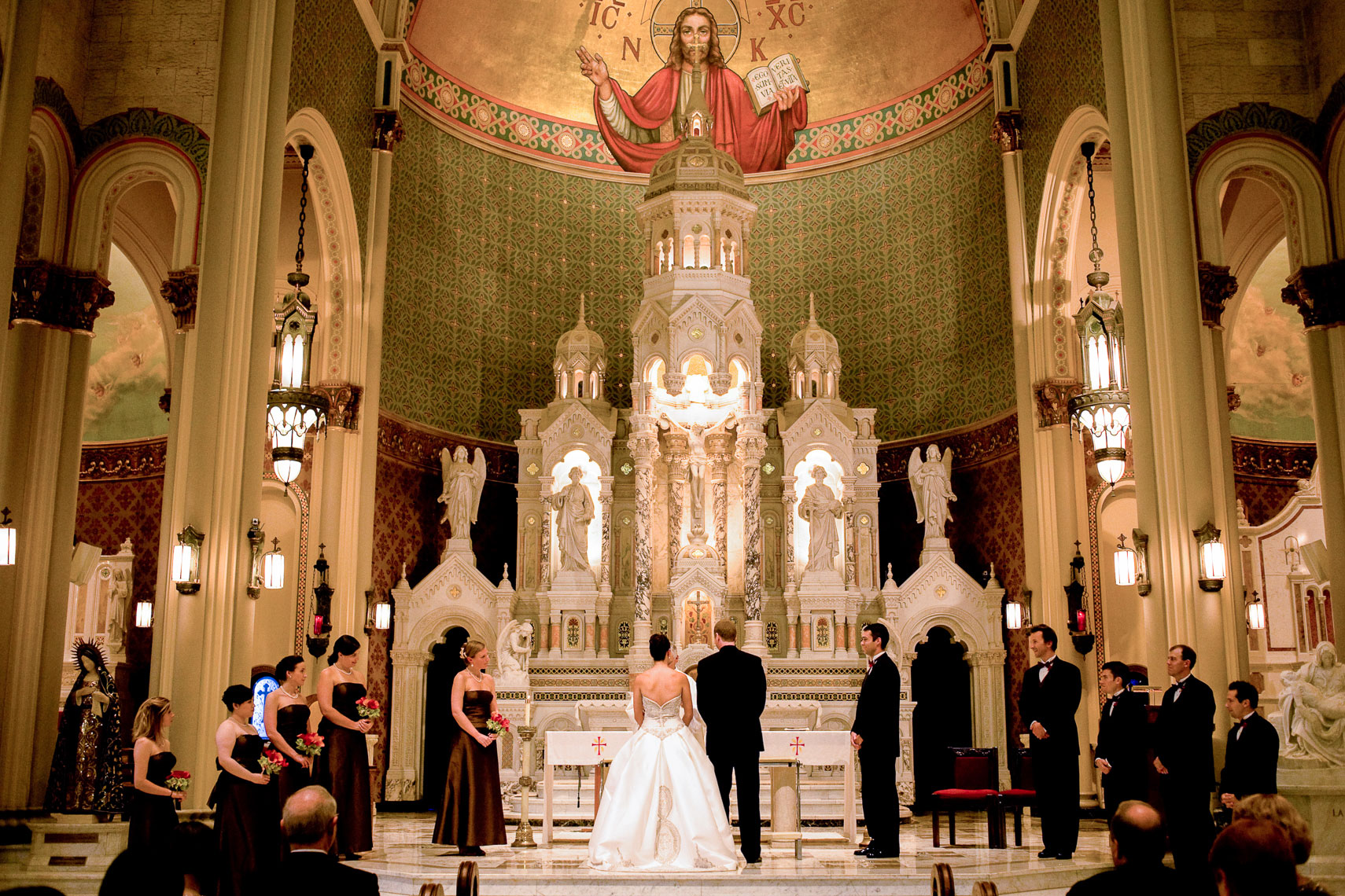 Cathedral Wedding Ceremony, New Mexico Wedding Photographer