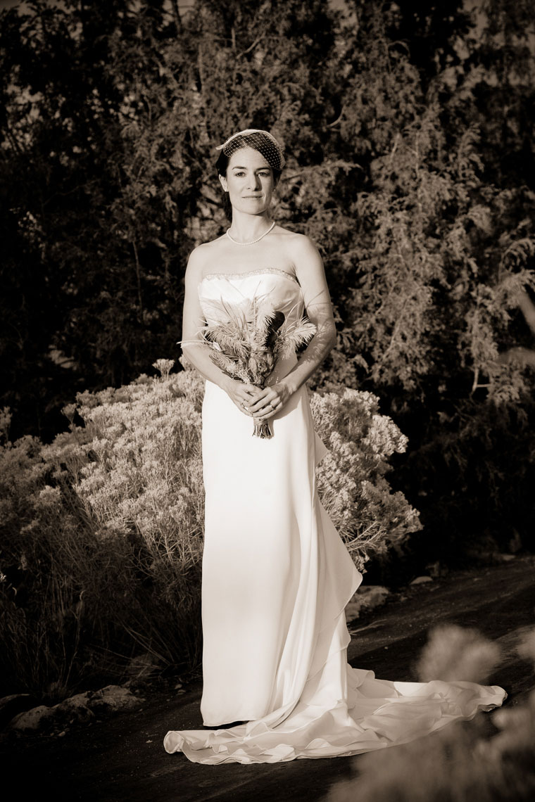 Vintage Bridal outside of the Farmers Market Paviolion in Santa Fe