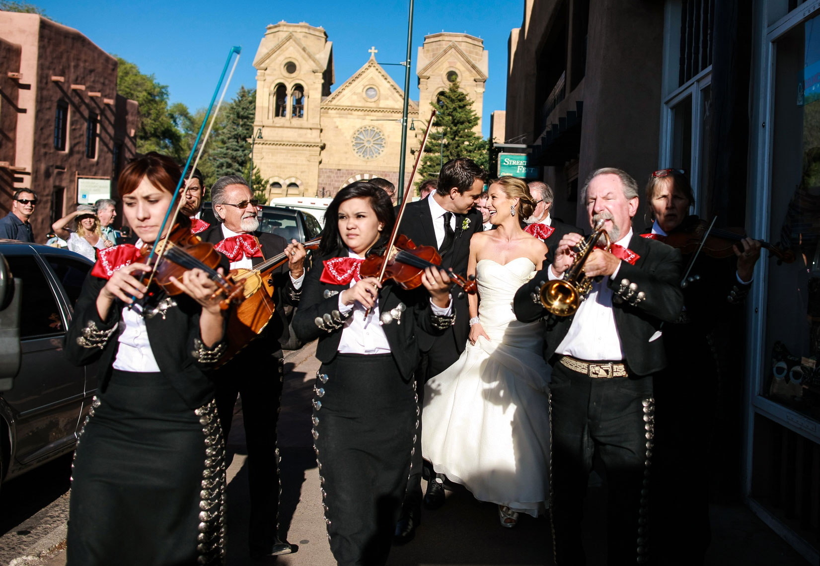 Santa Fe Mariachi  wedding procession