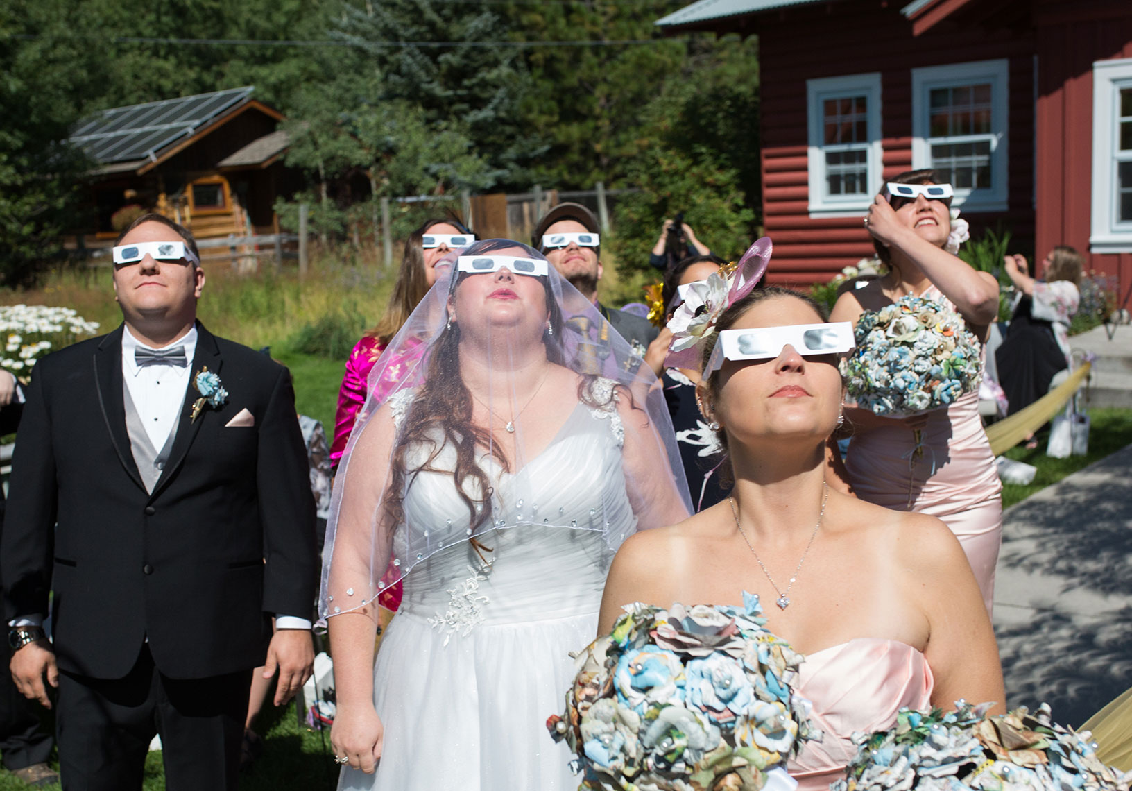 Grand Eclipse wedding at the Old Wilson School House
