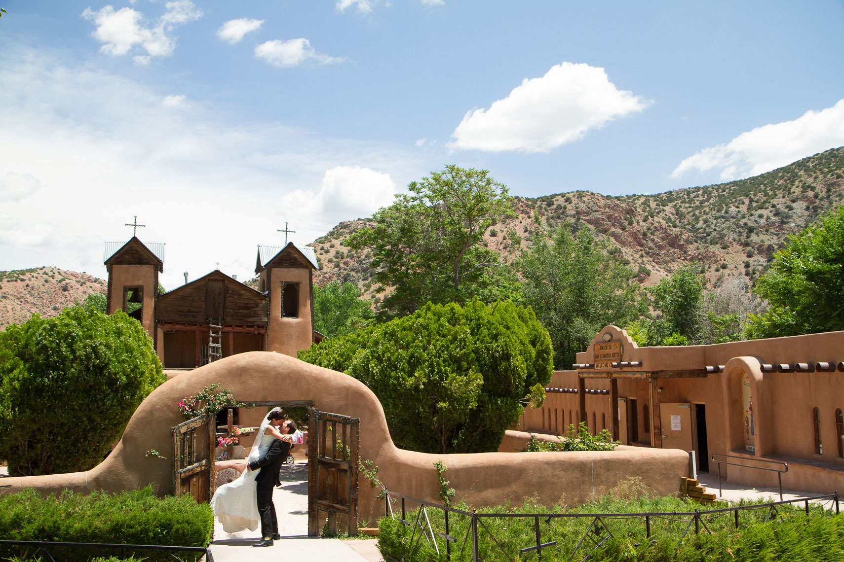 Wedding at the El Santuario de Chimayó in New Mexico