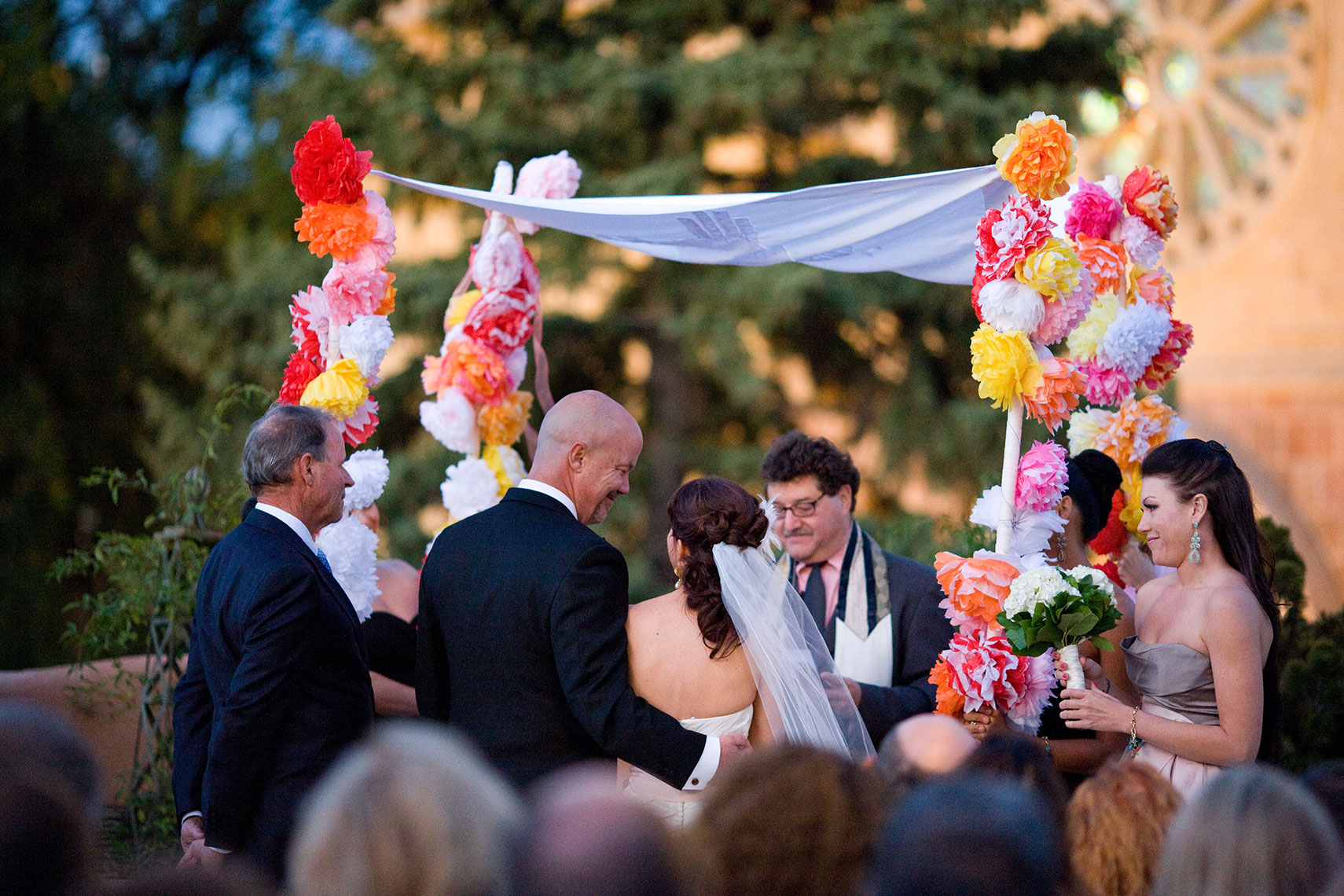 Jewish wedding ceremony on The La Fonda Balcony in Santa Fe