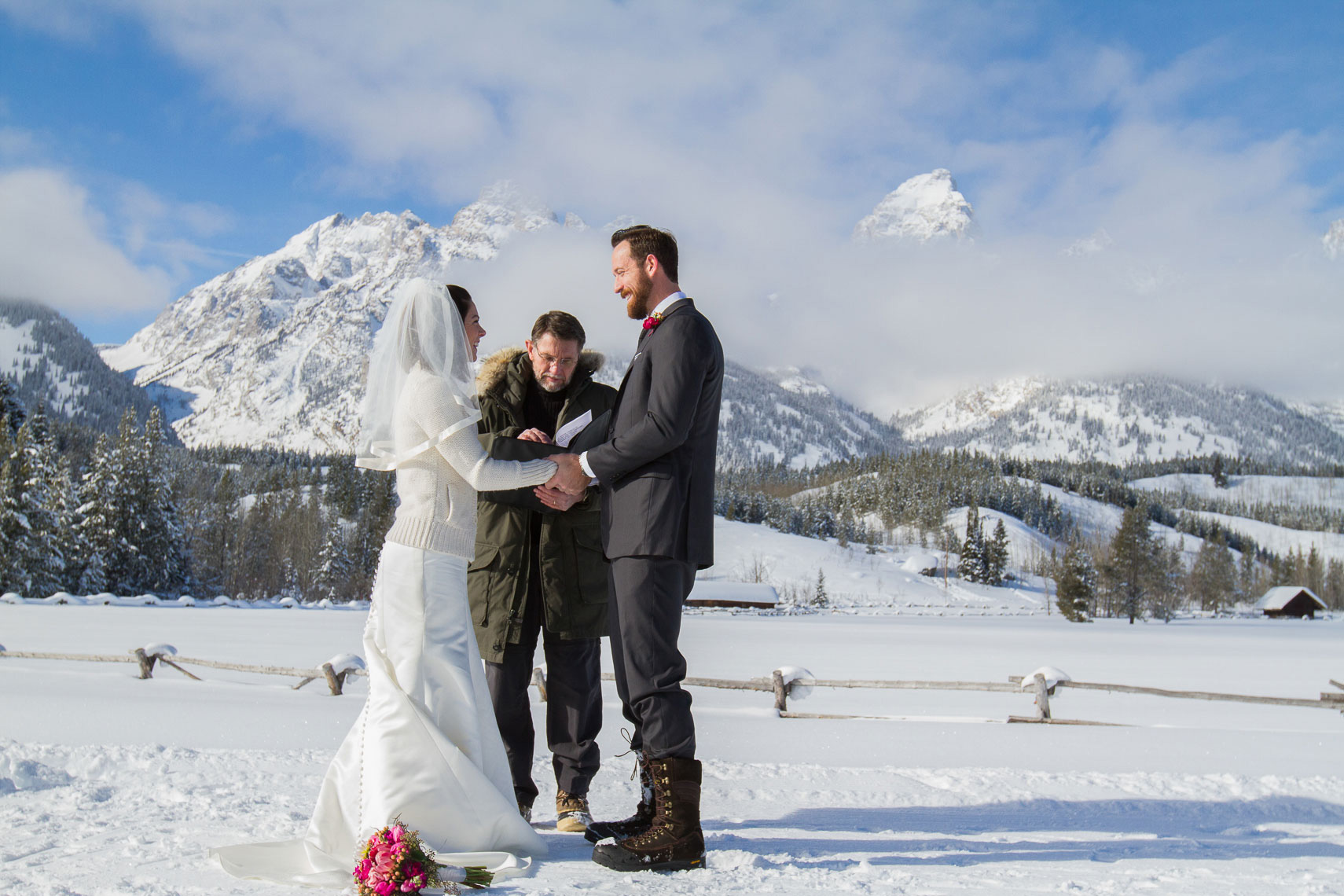 Grand Teton winter elopement