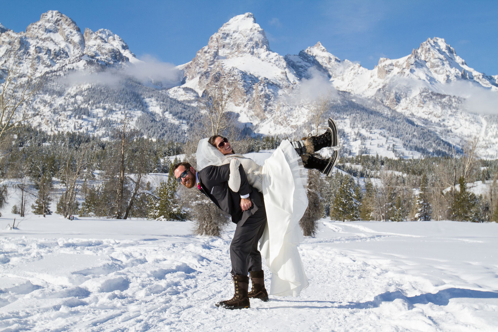 Grand Teton Winter Wedding