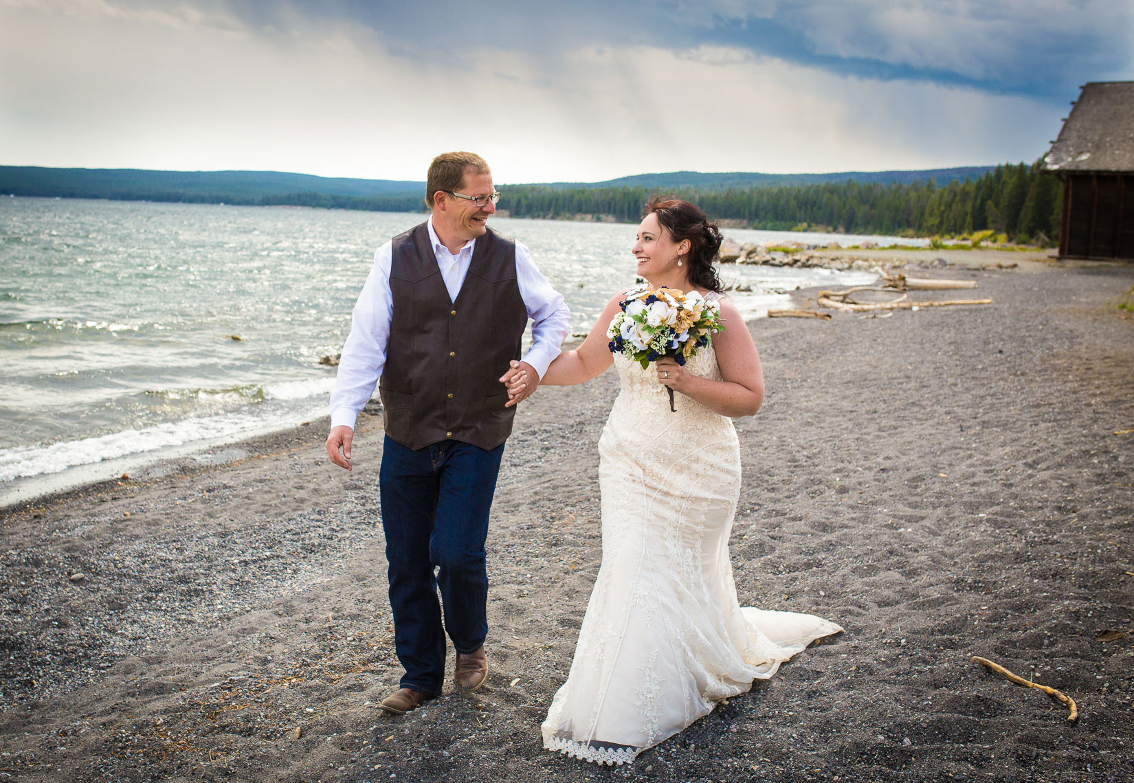 Yellowstone Lake Wedding by Robin Parrott of 2 Birds Studio