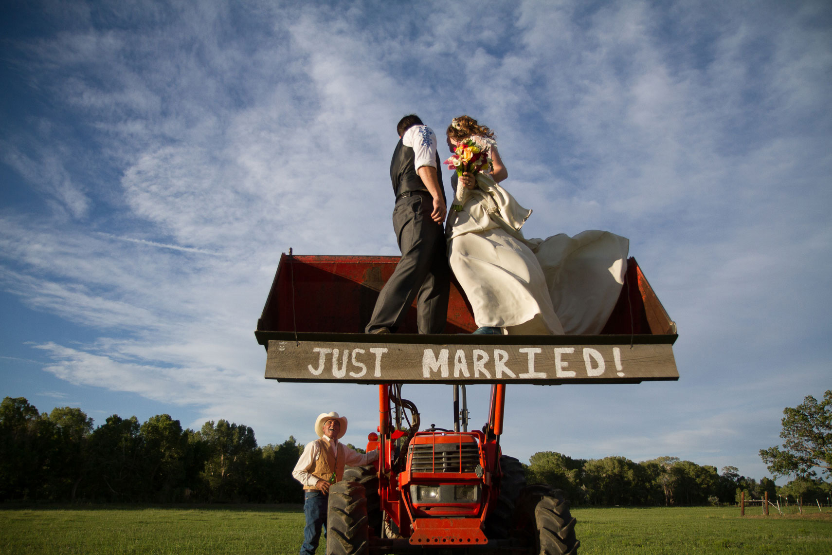 Weddings and Tractors,  Ranch Wedding in Cimmaron, NM