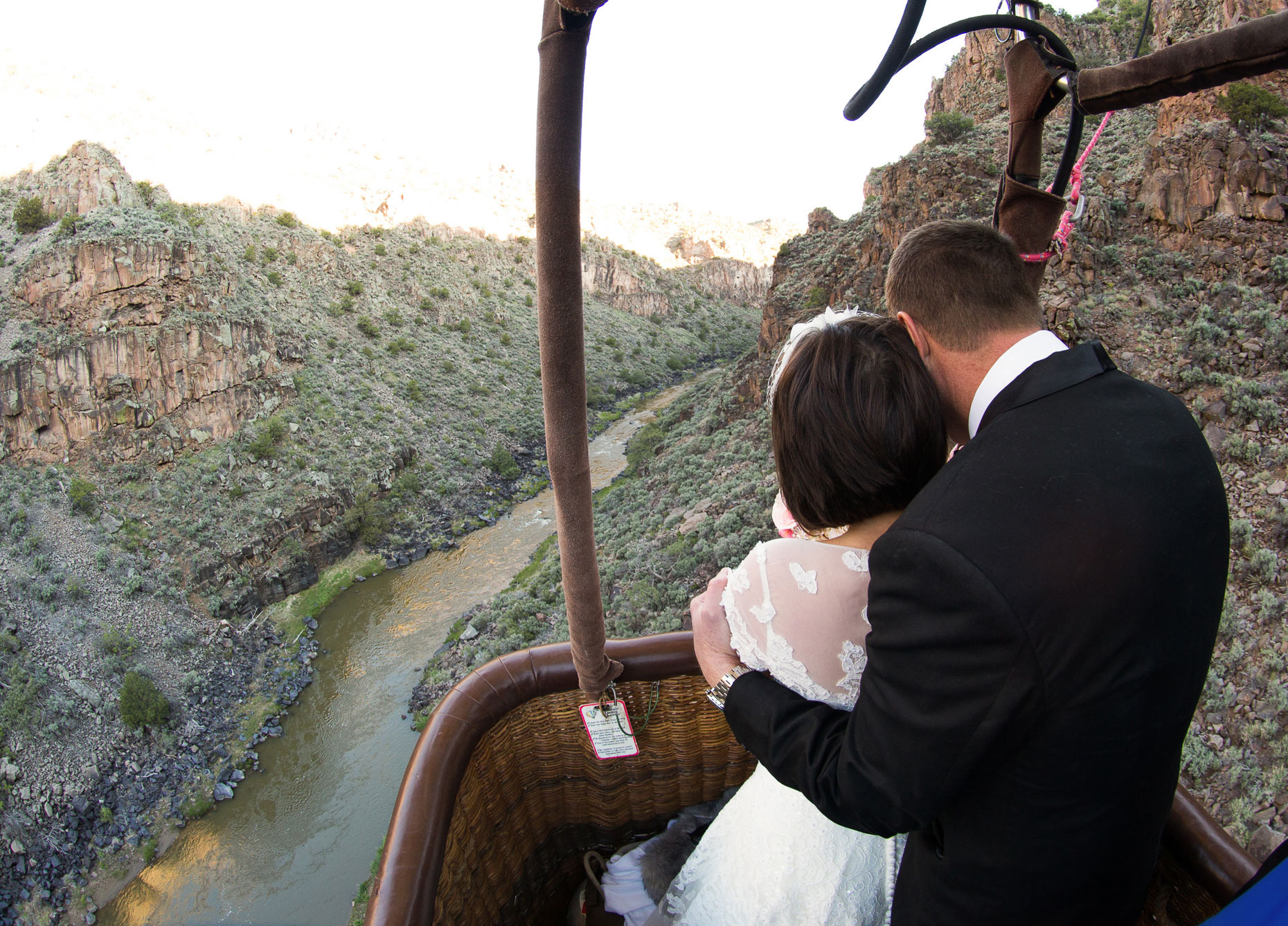 Hot Air Balloon Wedding in Taos NM